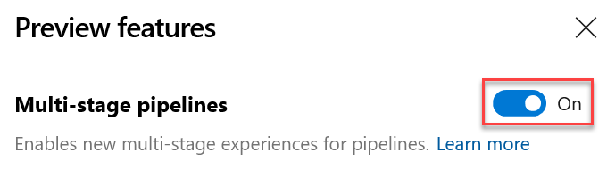 Multi-stage YAML based pipelins