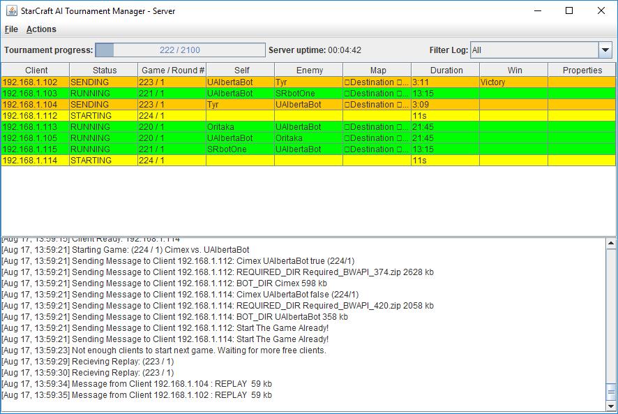 TM Server GUI Screenshot