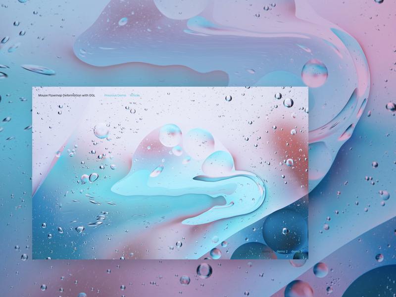 Mouse Flowmap Deformation with OGL