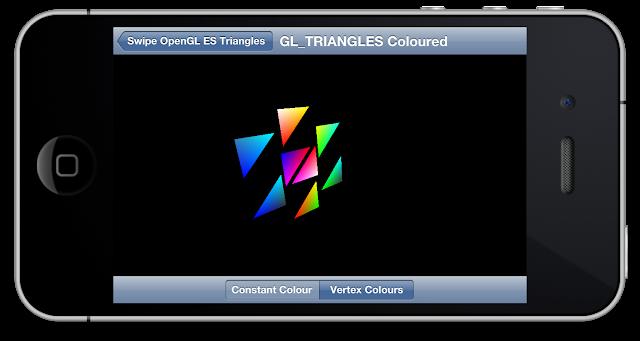 SwipeOpenGLTriangles GL_TRIANGLES Coloured