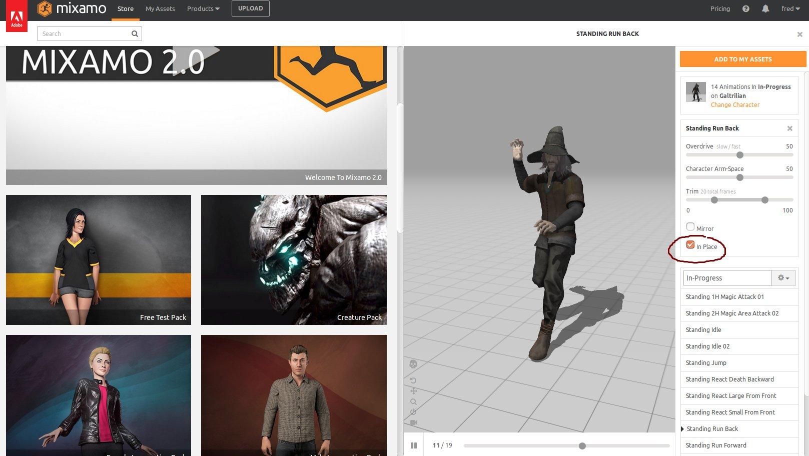 Import mixamo 3D model to Urho3D · fredakilla/UrhoTournament