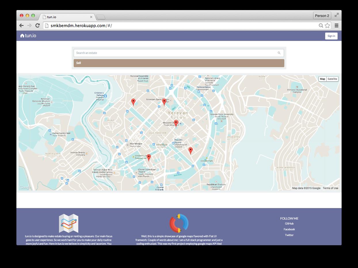 GitHub - tterian/tun io: Google Maps flavored with Flat UI