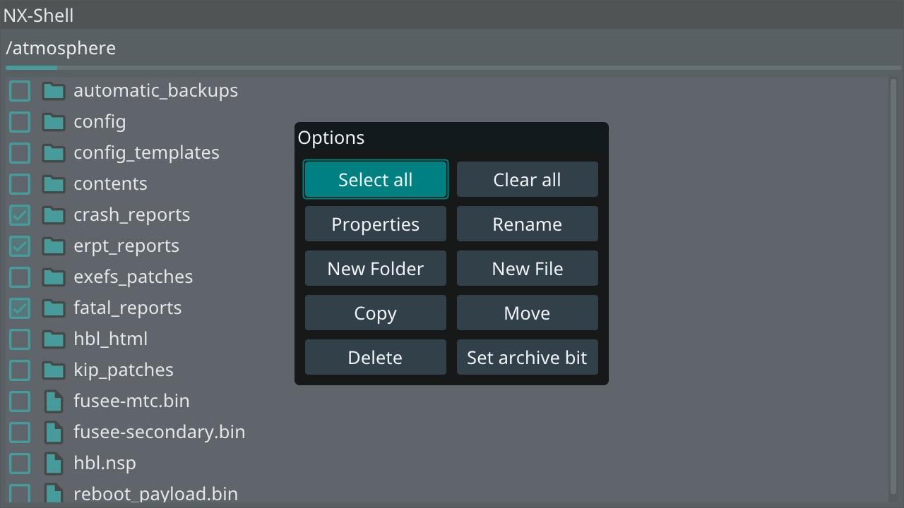 NX-Shell (next) Screenshot