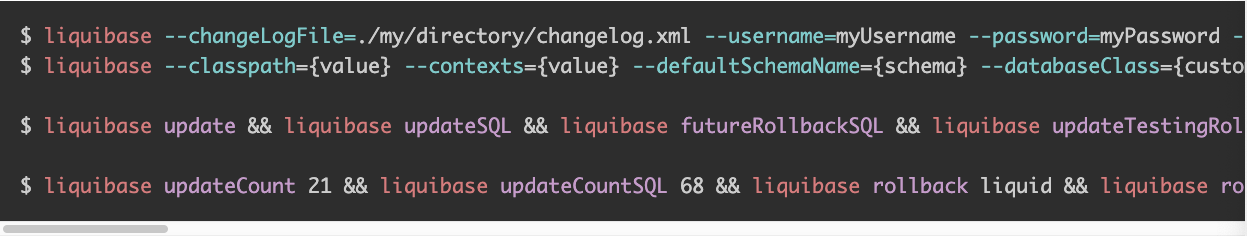 Example of syntax highlighting language extension for Liquibase support.