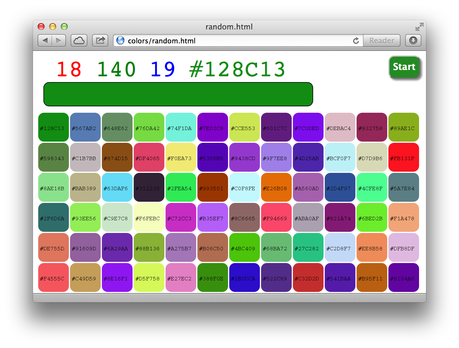 GitHub - nelsonic/colors: A little experiment in color (HTML + CSS + ...