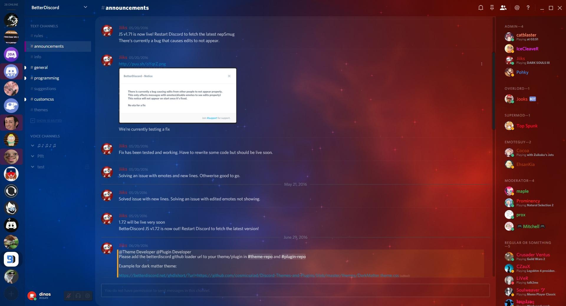 GitHub - din0s/discord-theme: CSS Theme for Discord