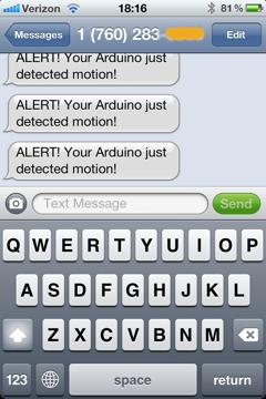 SMS Screenshot