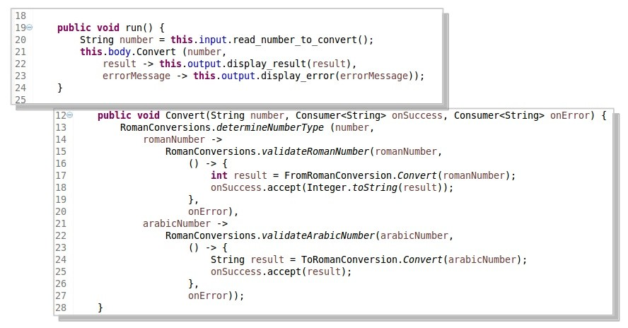 Java implementation of Convert and Run methods