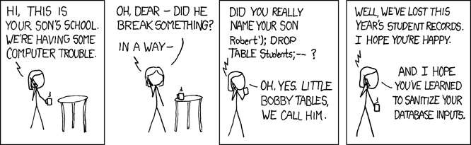 XKCD: Exploits of a Mom