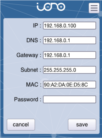 iono webapp config