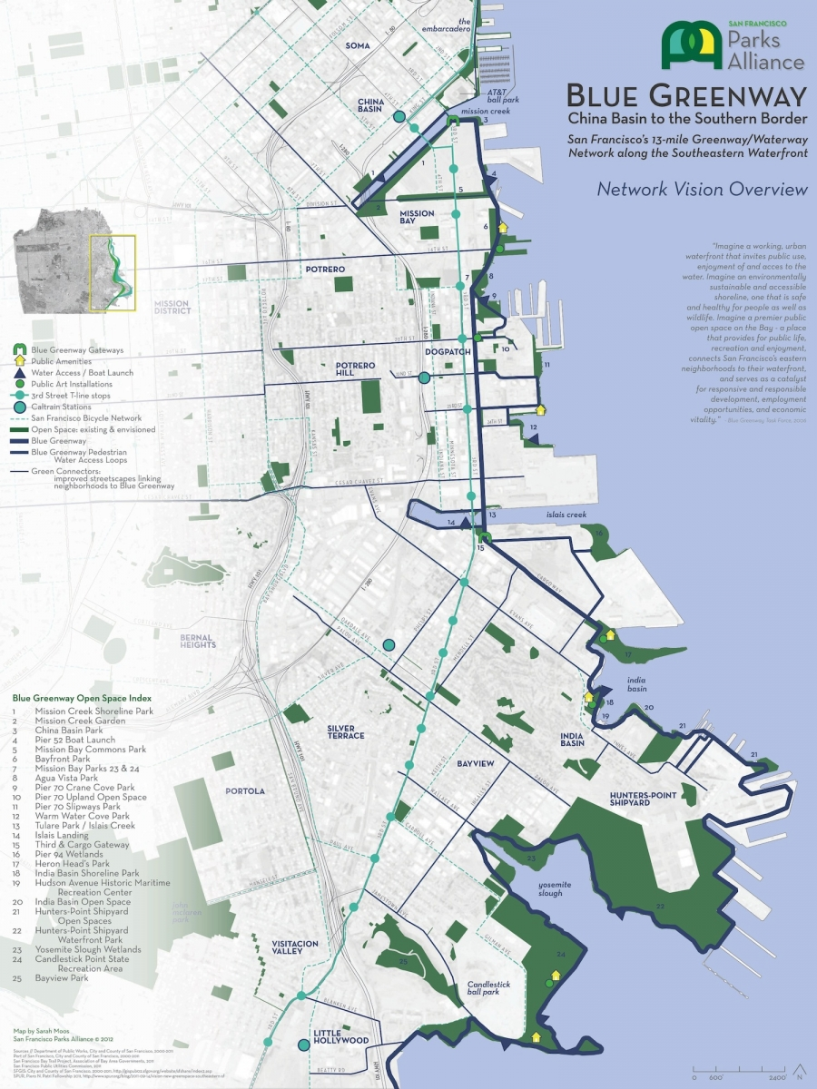 Parks Alliance Blue Greenway Map