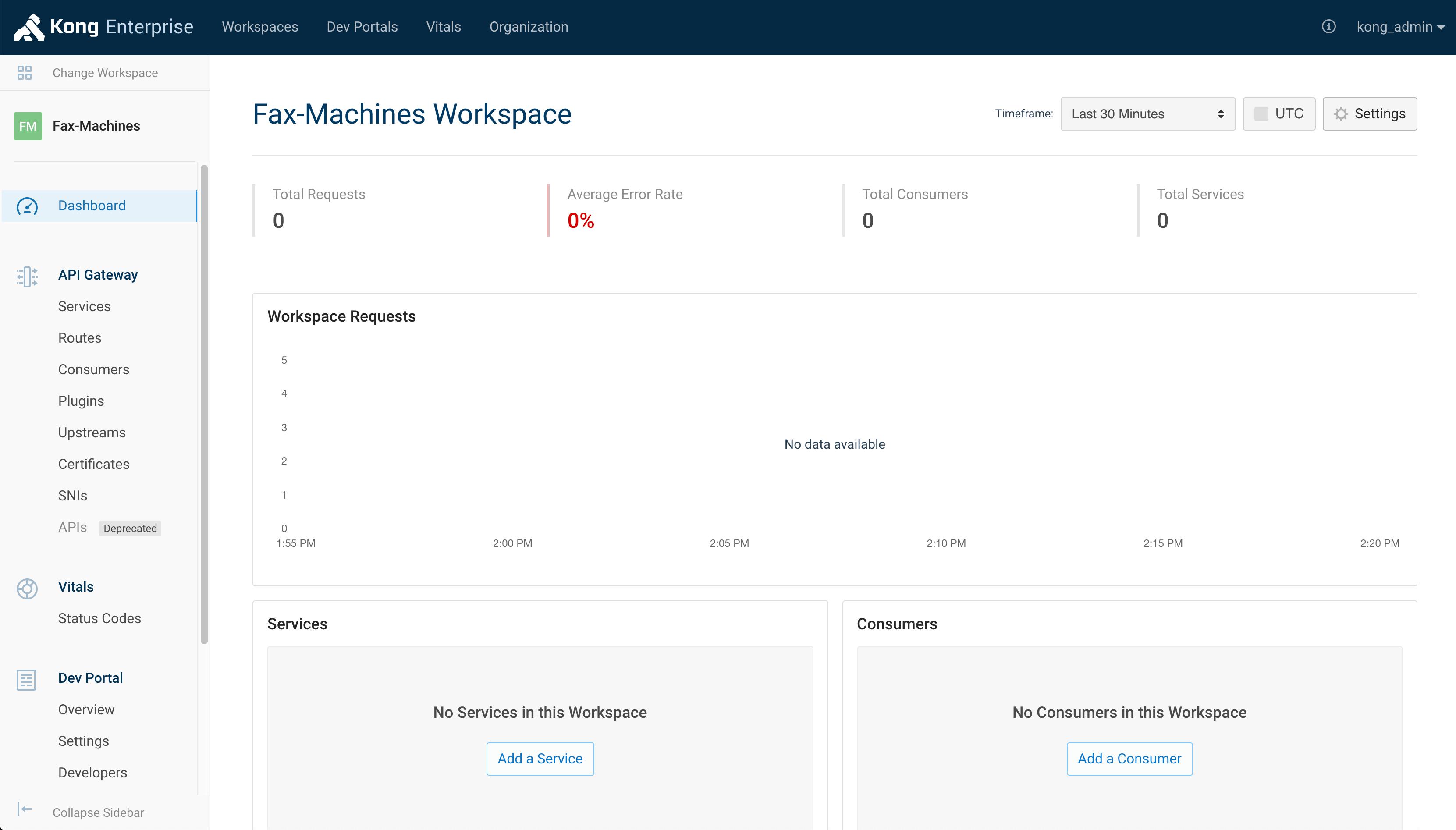 Workspace Dashboard