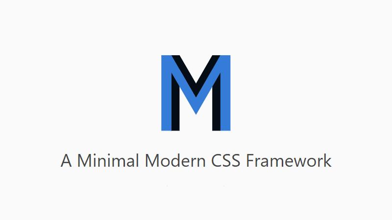 alt MM.css - Minimal Modern CSS Framework