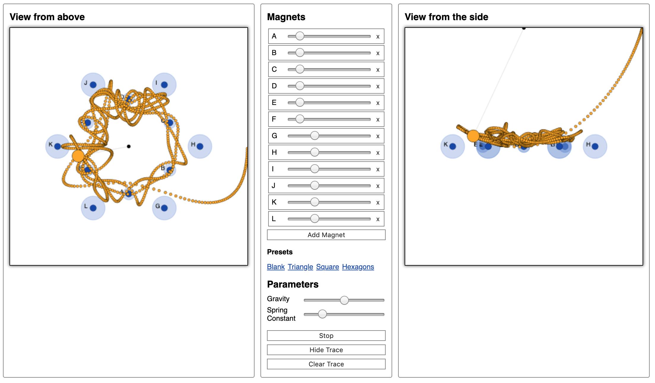 Magnetic Pendulum screenshot