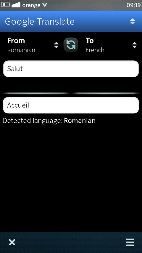 translate something - clear gone