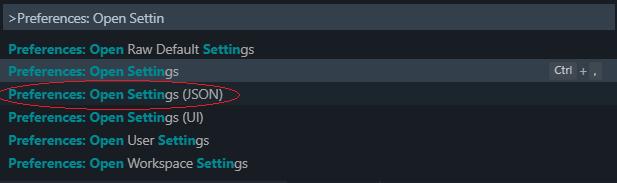 Preferences - settings