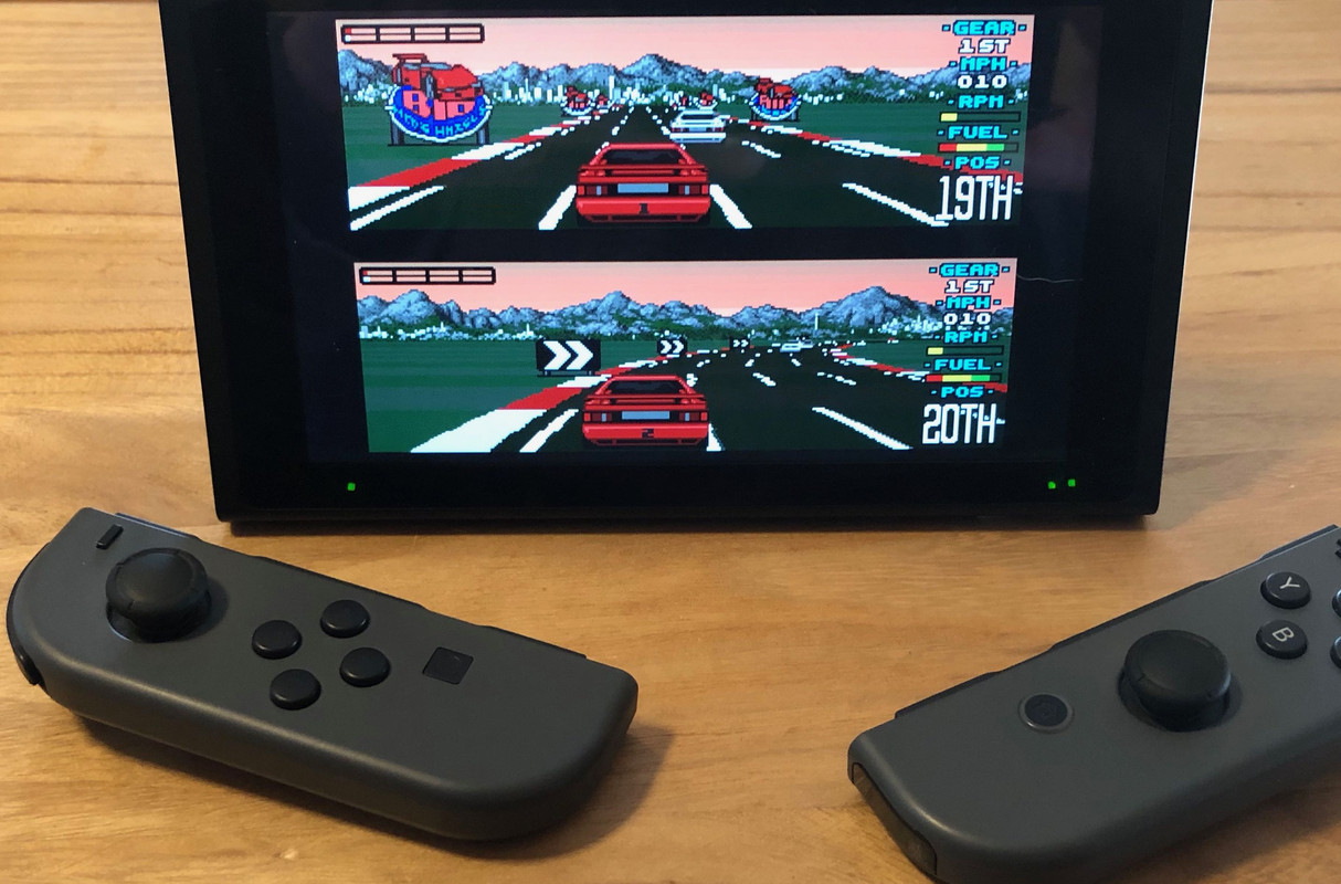 Photo of UAE4All2 running on Switch in tabletop mode