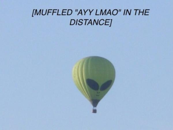 muffled ayy lmao in the distance