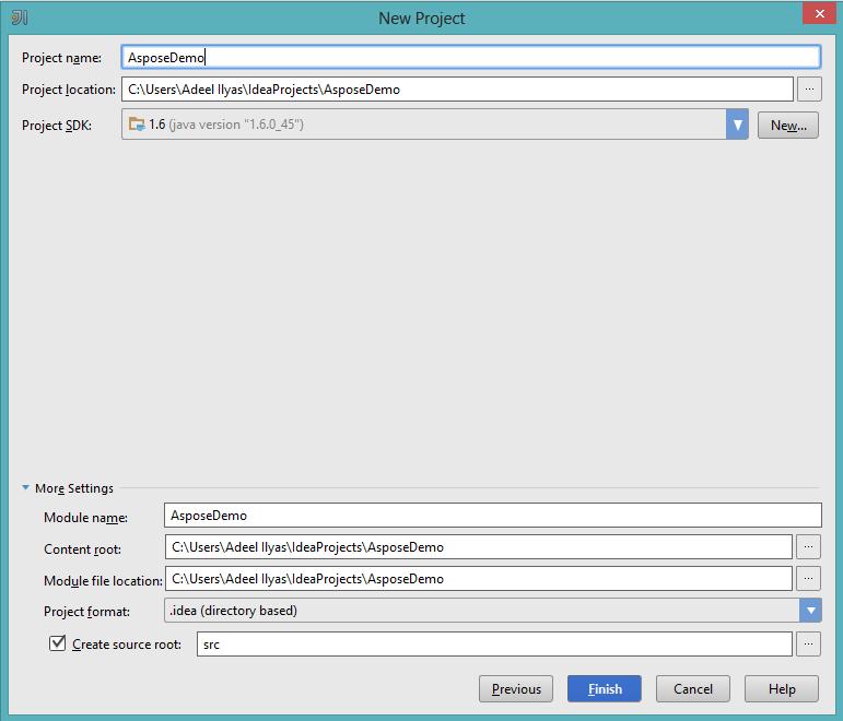 Aspose API for Java Integration with Jetbrains IDE