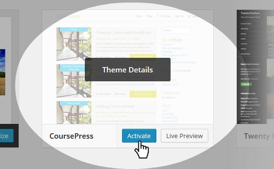 CoursePress - theme selection