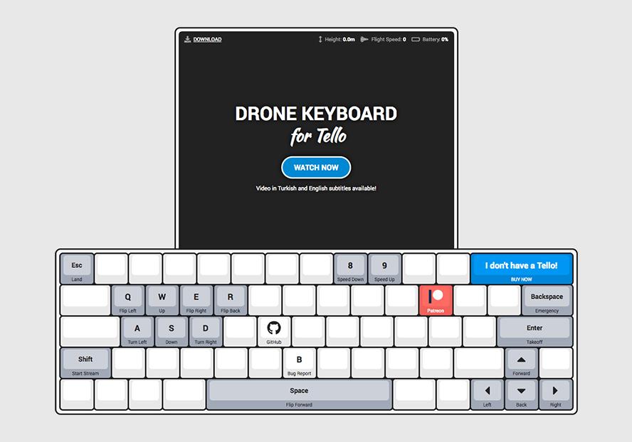GitHub - dnomak/drone-keyboard: Drone Keyboard for Tello