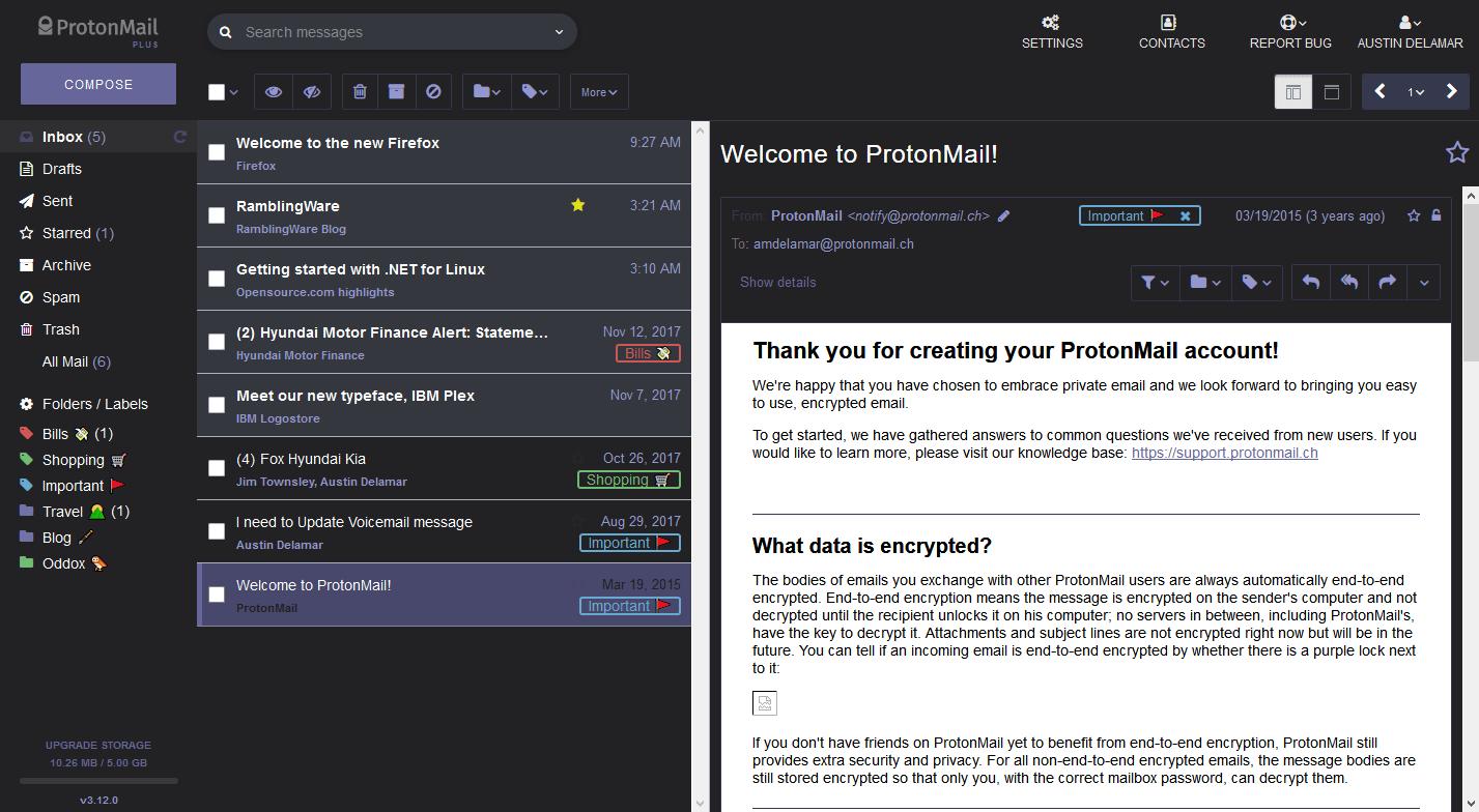 github amdelamar pm theme easy themes for protonmail v3 14 x