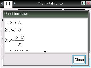 Formulas being displayed inside solver