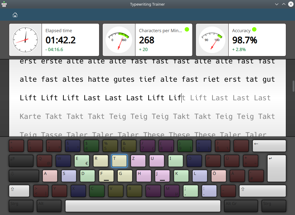 GitHub - KDE/ktouch: Touch Typing Tutor