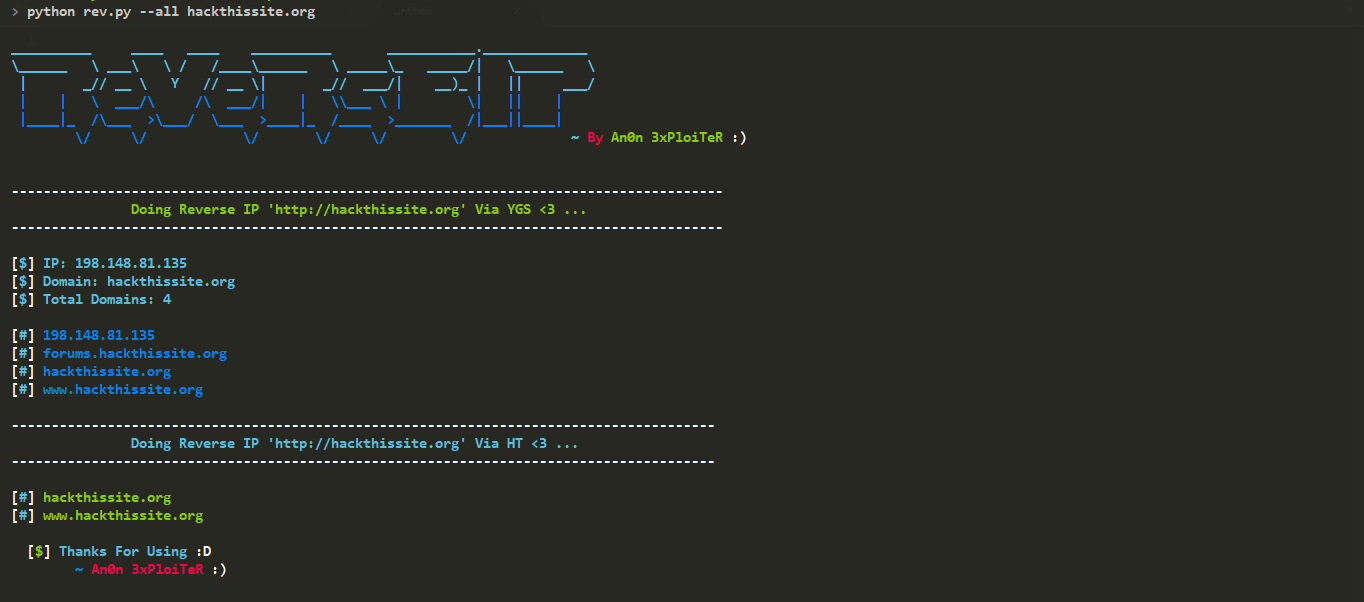 GitHub - Anon-Exploiter/ReVeRsE-IP: A Python Based Non