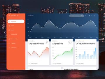 Now UI Dashboard HTML