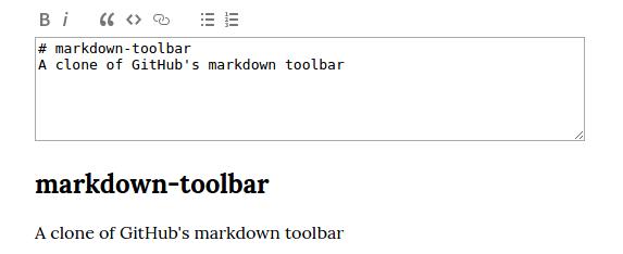 markdown-toolbar screenshot