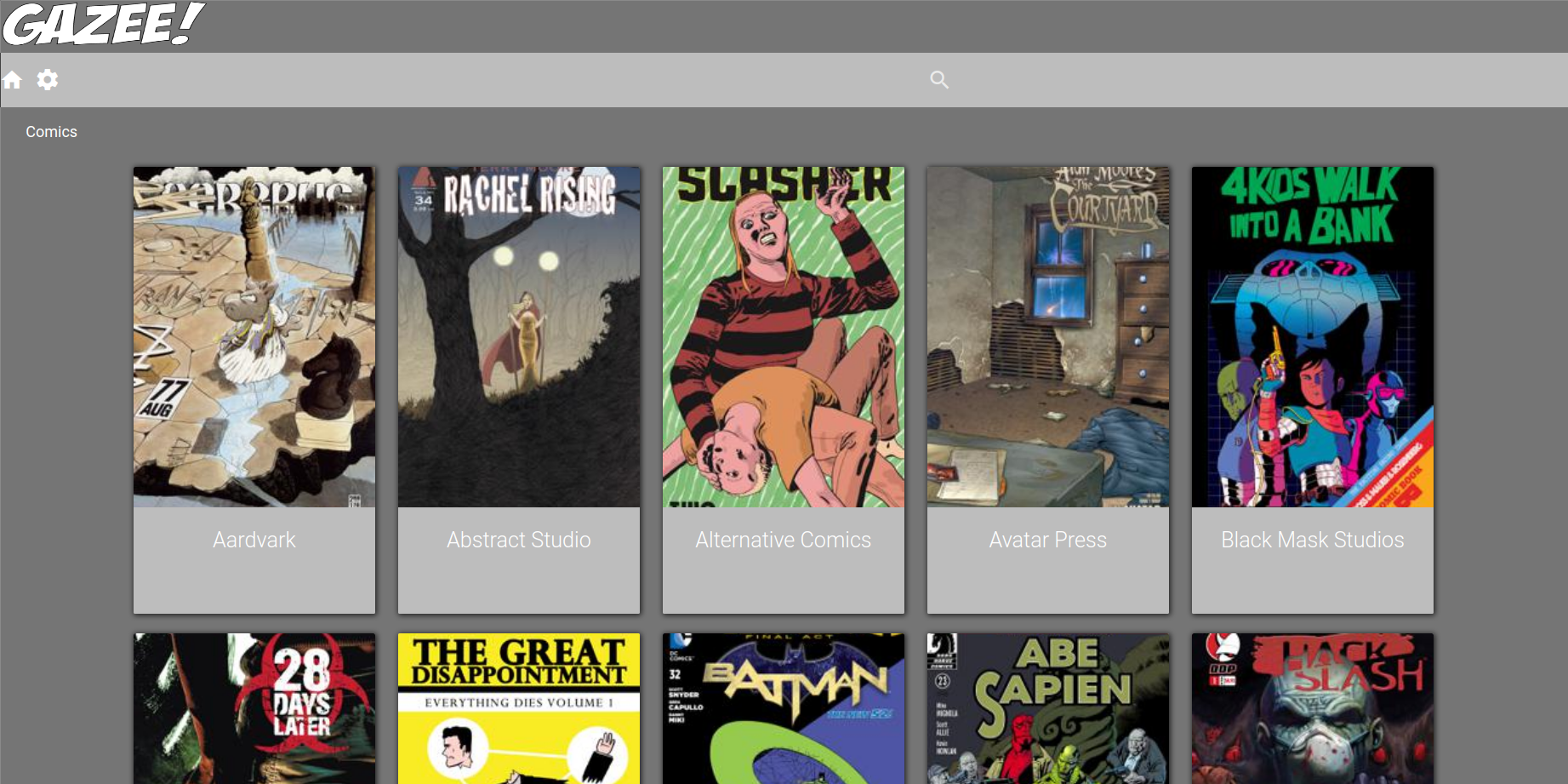 GitHub - hubbcaps/gazee: A WebApp for reading your comics