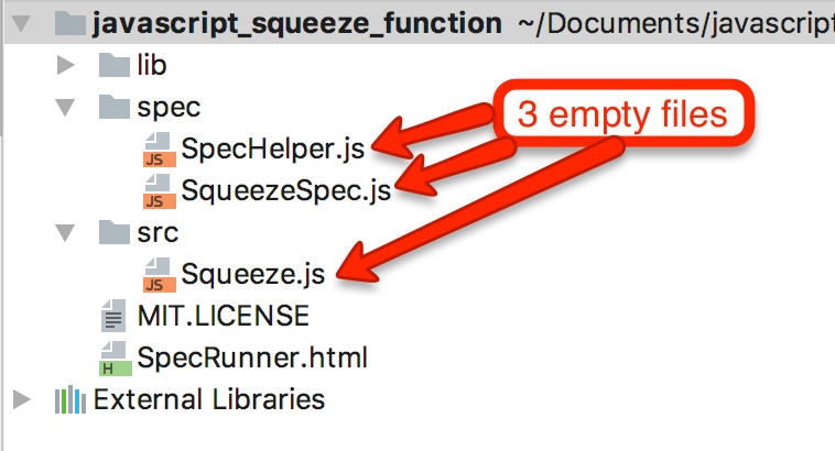 JavaScript Jasmine Example Implementing a Squeeze Function - Tech
