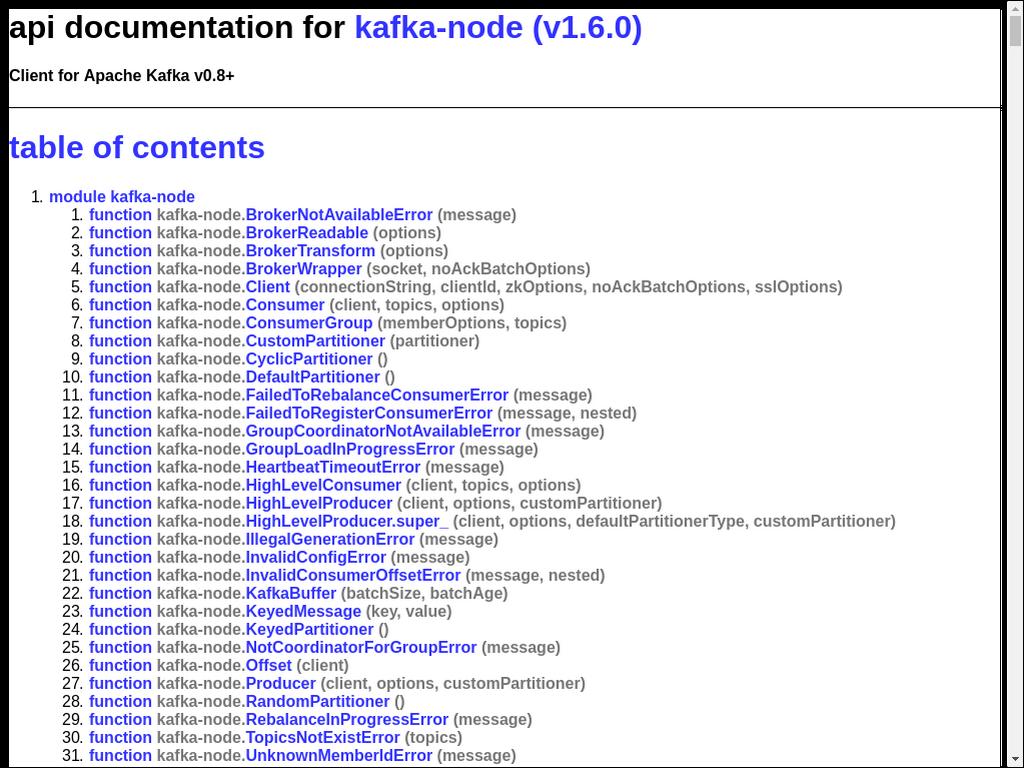 npmdoc-kafka-node 2017 4 25 on npm - Libraries io