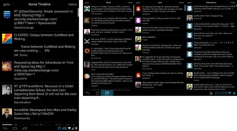 Onosendai Phone and Tablet UI