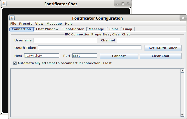 Chat Game Fontificator