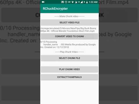 The Android Arsenal - Video - VideoChunkFileEncrypter