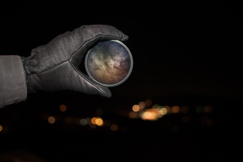 Milky Way through lens filter
