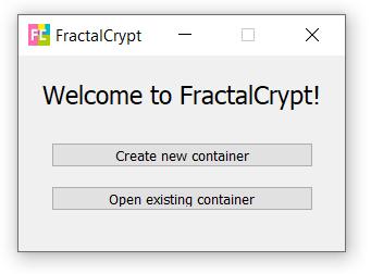 Startup window screenshot