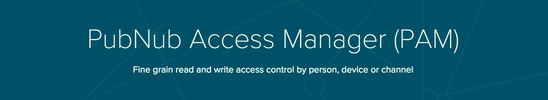 PubNub Chat Access Management ACL Access Control Layer