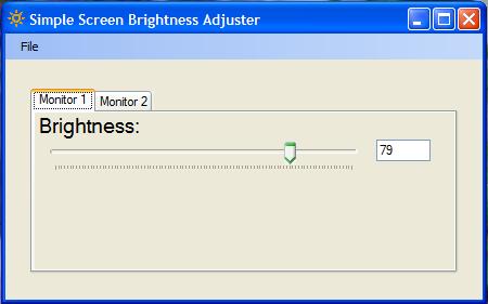 Simple Screen Brightness Adjuster