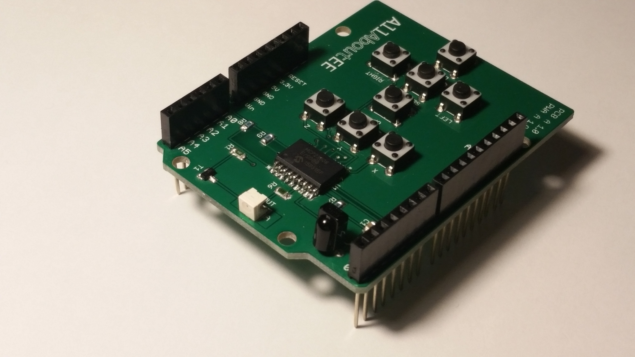 Github allaboutee infrared shield library for arduino