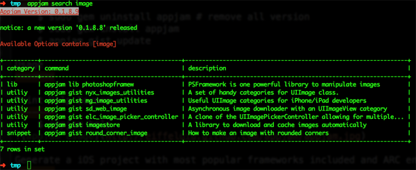 appjam usage