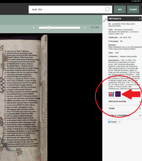 Digital Bodleian IIIF manifest download