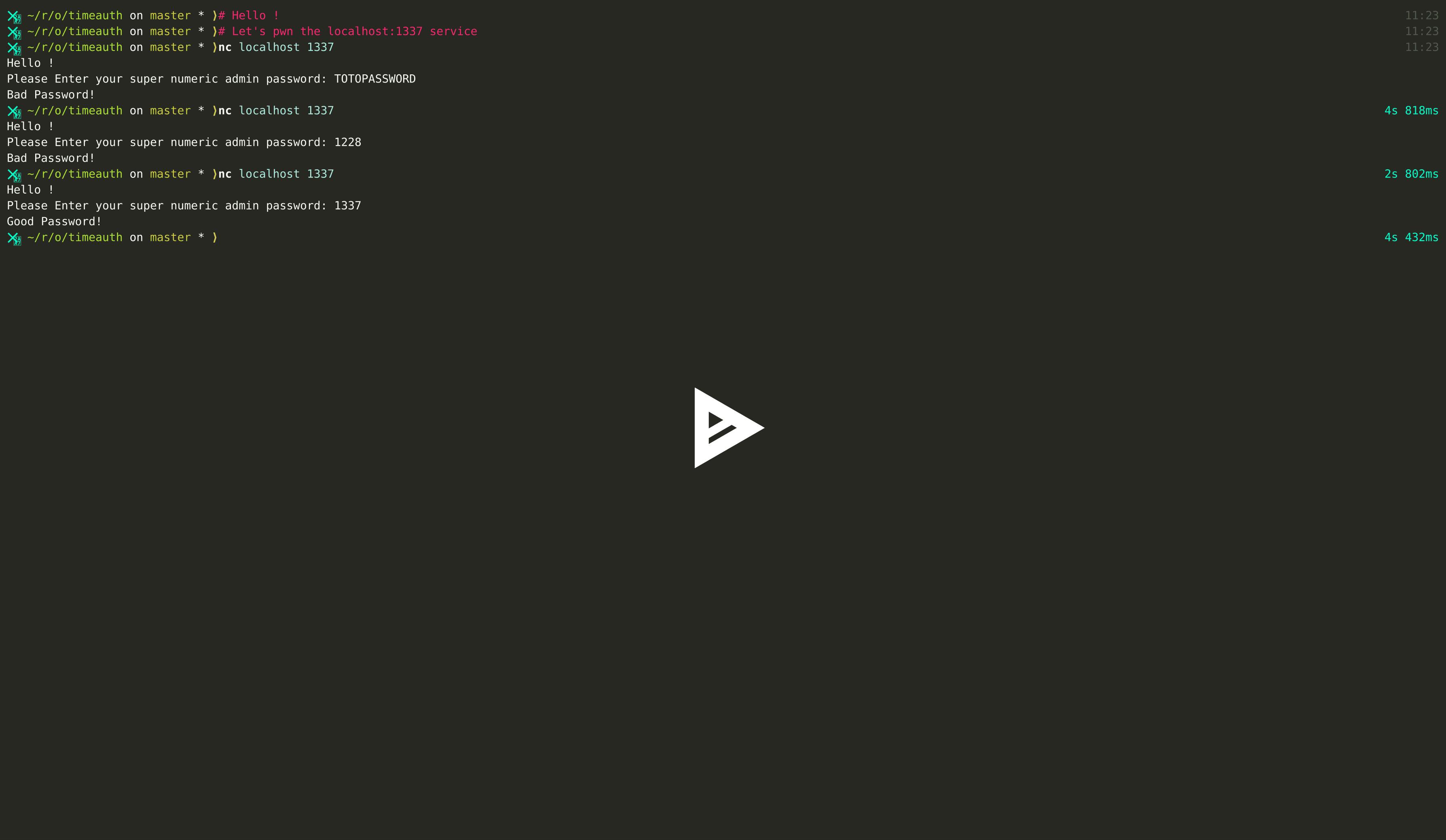 GitHub - SakiiR/timeauth: Python Time Based Authentication