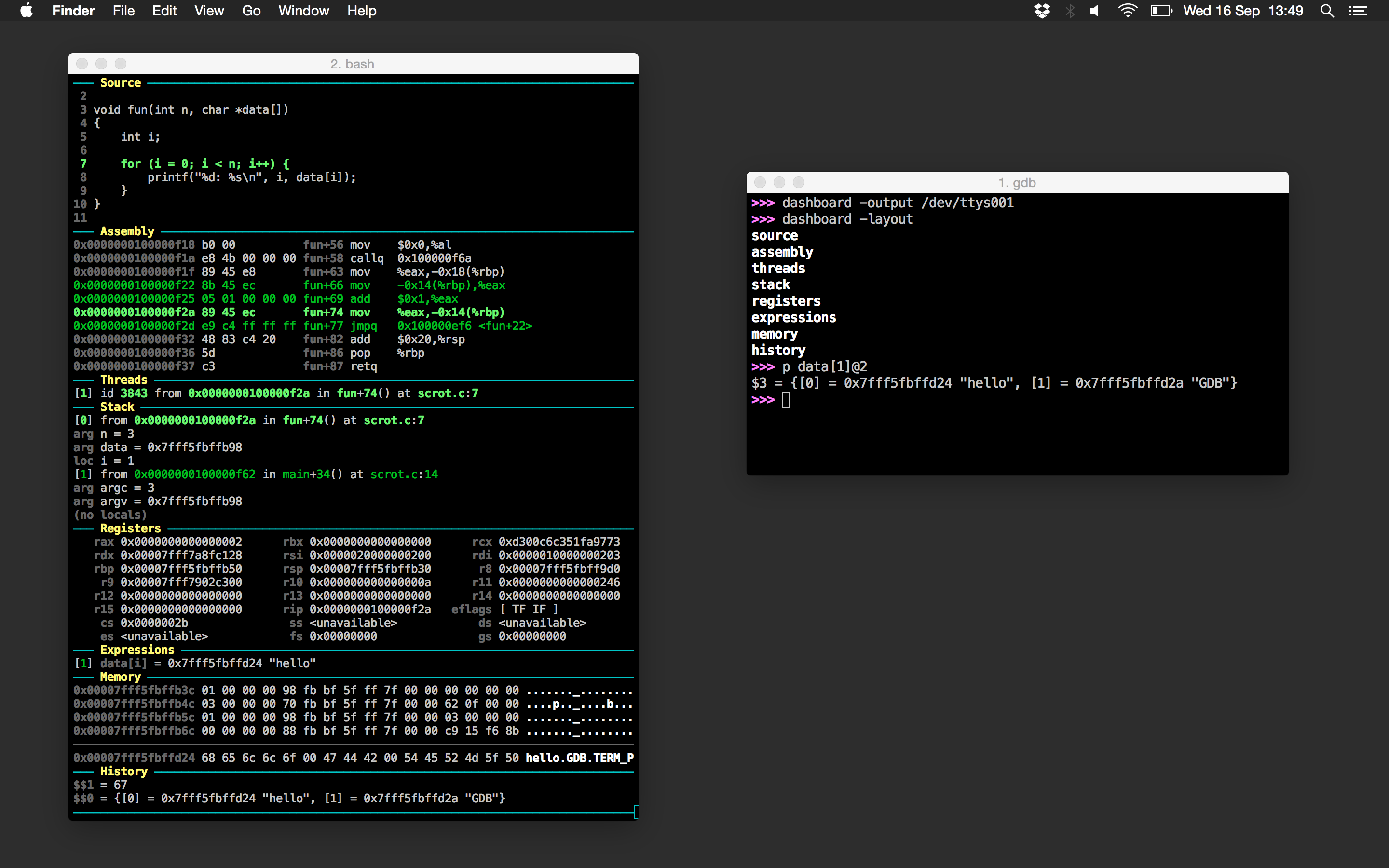 Dashboard In Another Terminal