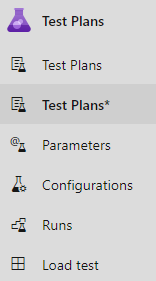 New test plan page