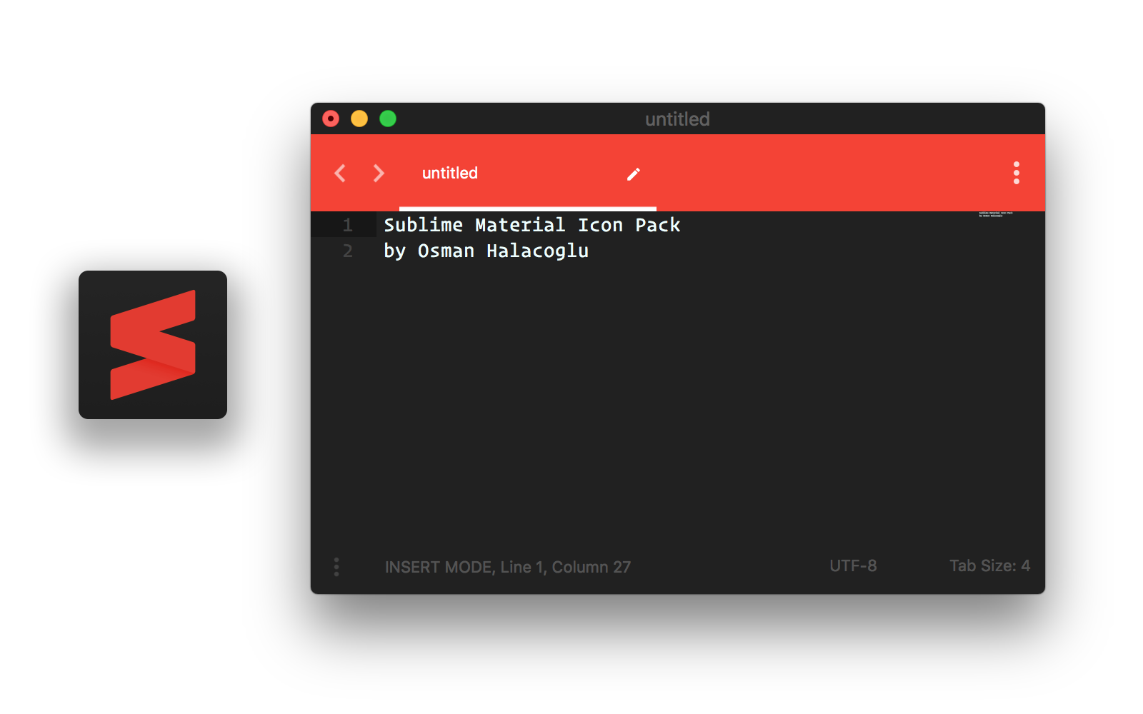 Material Darker theme with Red accent color