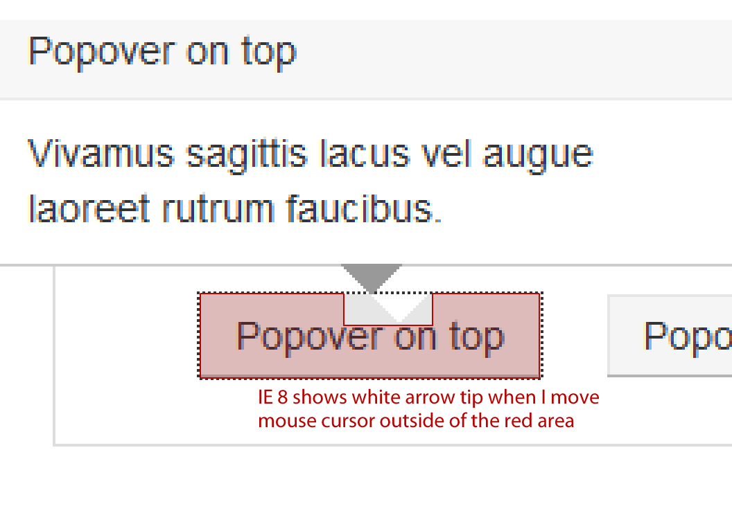 Popover arrow not displaying in IE8, v2.1.0 · Issue #4852 · twbs ...