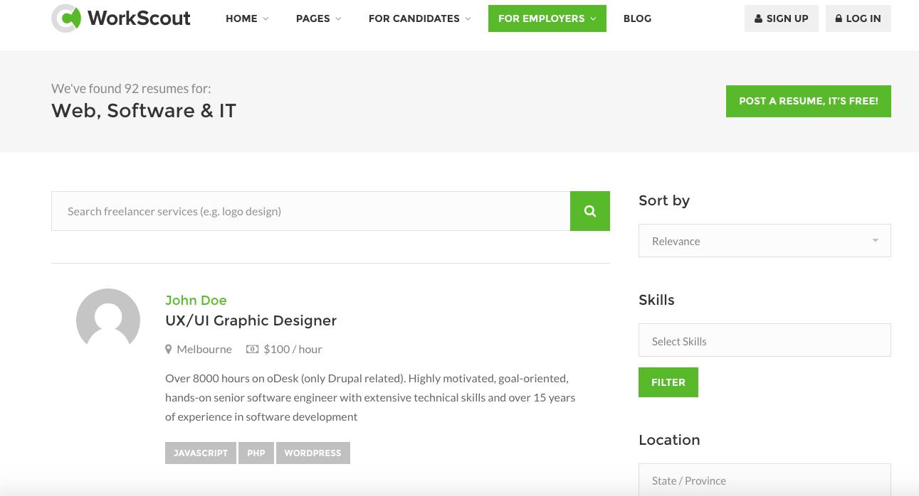 dexjobs job board html template free download  GitHub - connor11528/job-board-html-template